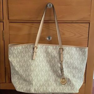 MICHAEL by Michael Kors White Signature Tote